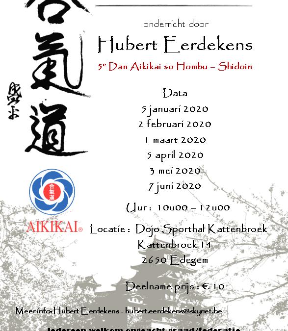 Hubert Eerdekens 5de dan – Edegem – voorjaar 2020
